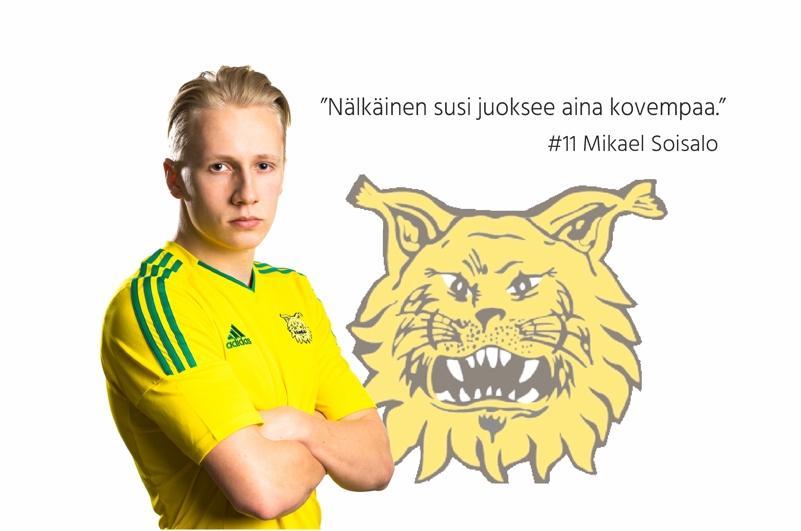 Mikael Soisalo maalinteossa U19-vuotiaiden EM-karsintaturnauksessa