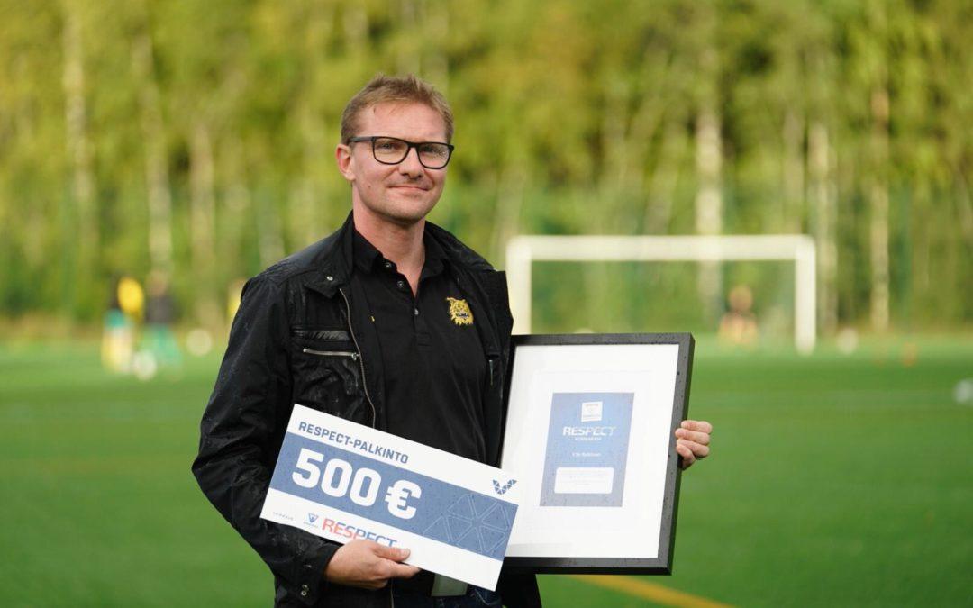Ilveksen Ville Rytköselle myönnettiin Respect-palkinto