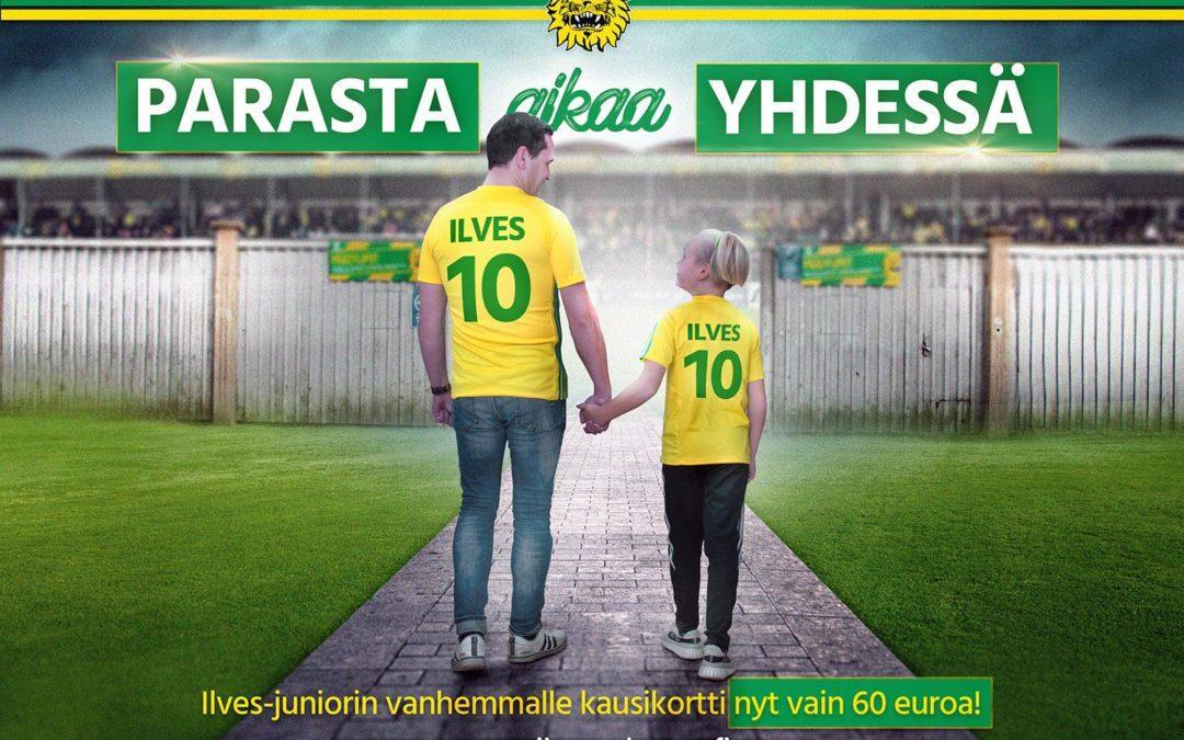Paras aikaa yhdessä –  Ilves-juniorin vanhemmille kausikortti kaudelle 2019 vain 60 €