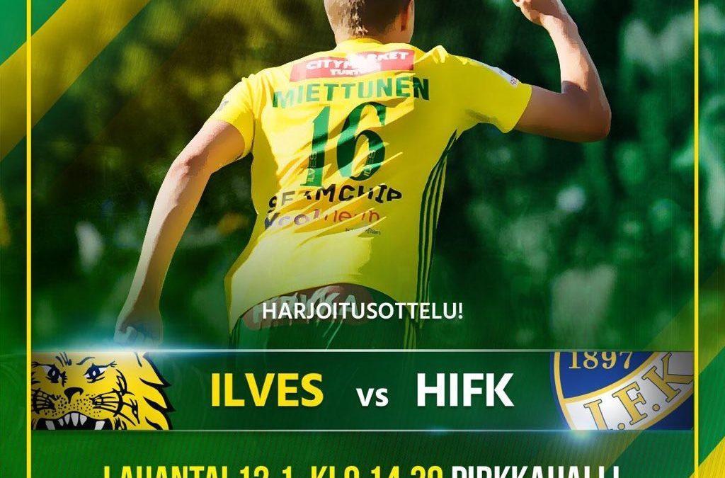 Ilves-HIFK lauantaina Pirkkahallissa