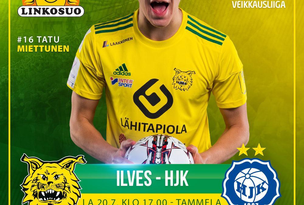 Huippuottelu lauantaina – HJK saapuu Ilveksen vieraaksi täpötäyteen Tammelaan