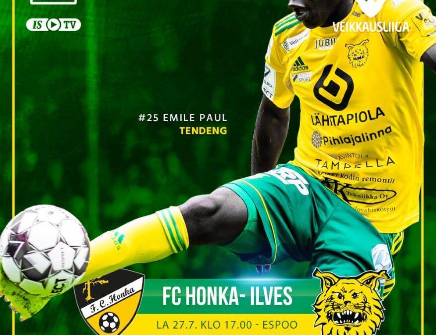 Ennakko: FC Honka – Ilves, sarjan kärkipää tiivistyy