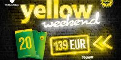 Yellow Weekend -kausikorttitarjous perjantaista sunnuntaihin