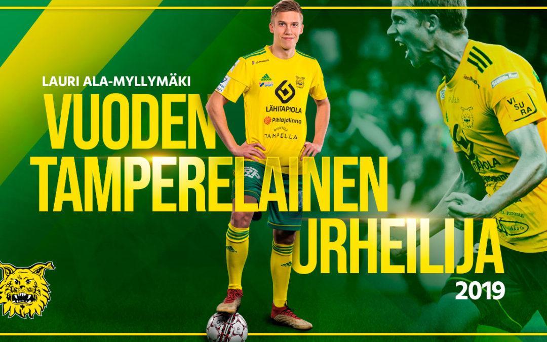 Lauri Ala-Myllymäki on Vuoden Tamperelainen Urheilija 2019!