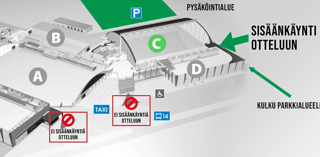 Poikkeuksellinen sisäänkäynti ja pysäköinti Ilves – RoPS -ottelussa ensi lauantaina