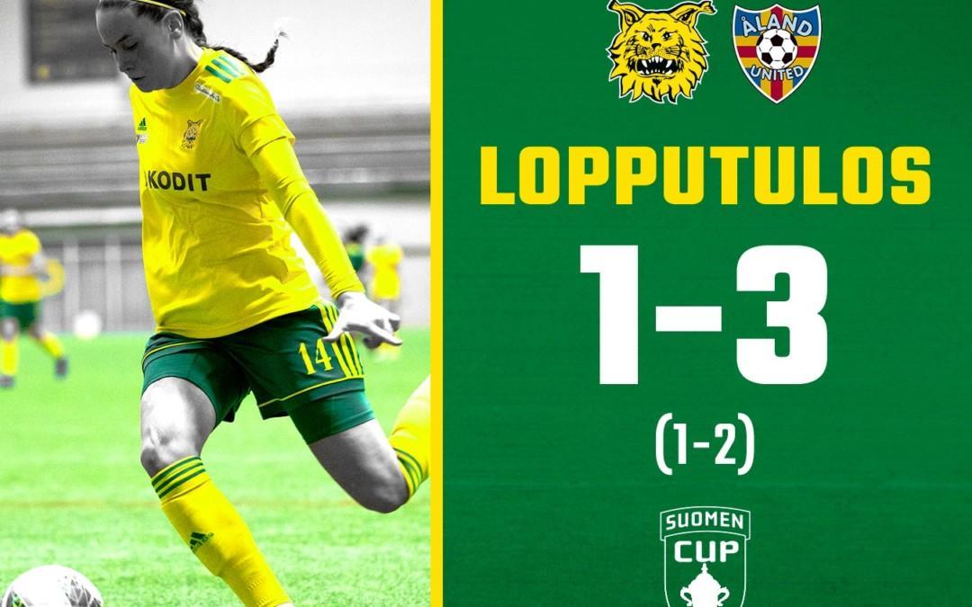 Otteluraportti: Ilves – Åland United 1-3 – Ilveksen hyvät otteet eivät aivan riittäneet voittoon