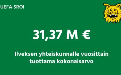 Ilves jalkapallon toiminta tuo vuosittain yhteiskunnalle yli 31 miljoonan euron hyödyn