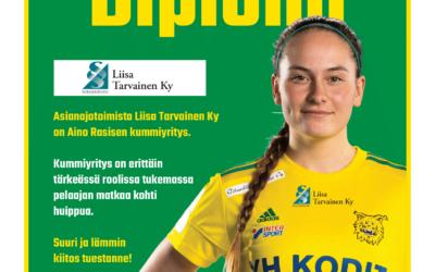 Asianajotoimisto Liisa Tarvainen Ky Aino Rasisen kummiyritykseksi