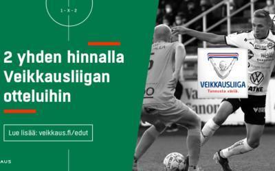 Veikkauksen Etuasiakkaana saat kaksi lippua yhden hinnalla Ilves – IFK Mariehamn-otteluun!