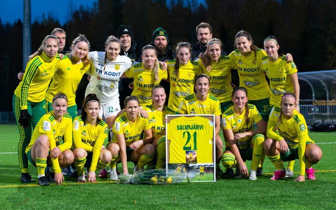Raportti: Kauden päätösottelusta tappio – Johanna Salmijärven hienolle uralle päätös